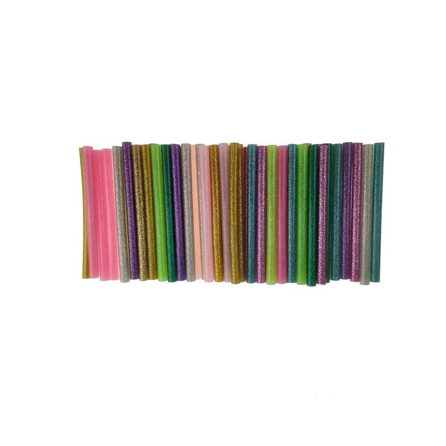 Hot Glue Gun Sticks Colorful by Huwaimi Hot Melt Glue Sticks Mini 7mm x 10cm for DIY Art Craft 10 Colors (50pcs)