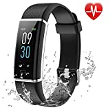 RSTJ-Sjsw Fitness Tracker, Activity Color Screen Tracker with IP68 Waterproof for Shower, 14 Sports Modes,GPS Tracker, Intelligent Notification, Pedometer for Men, Women and Children
