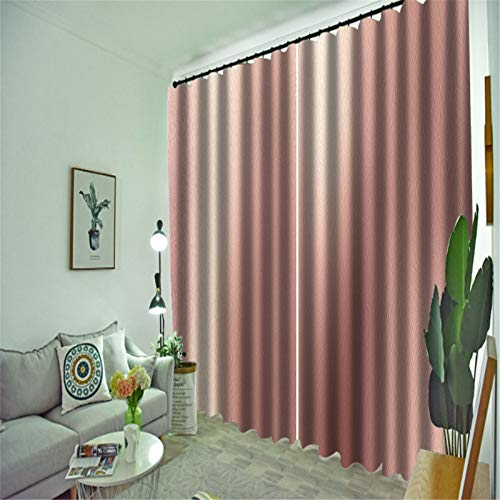 FACWAWF Home 3D Three-Dimensional Marble Texture Pattern Blackout Curtain Living Room Bedroom Balcony Curtain 132x160cm(2pcs)