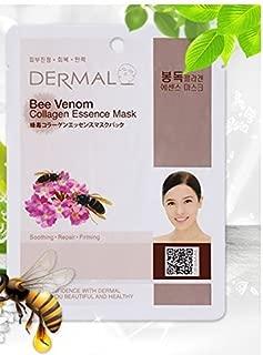 DERMAL Bee Venom Collagen Essence Facial Mask Sheet 23g Pack of 10
