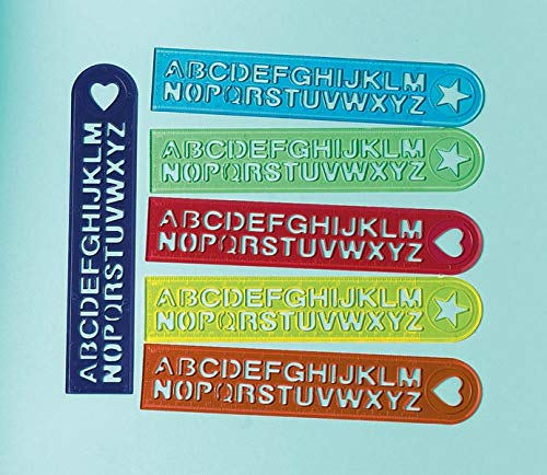 Amscan Alphabet Rulers | Party Favor | Pack of 12