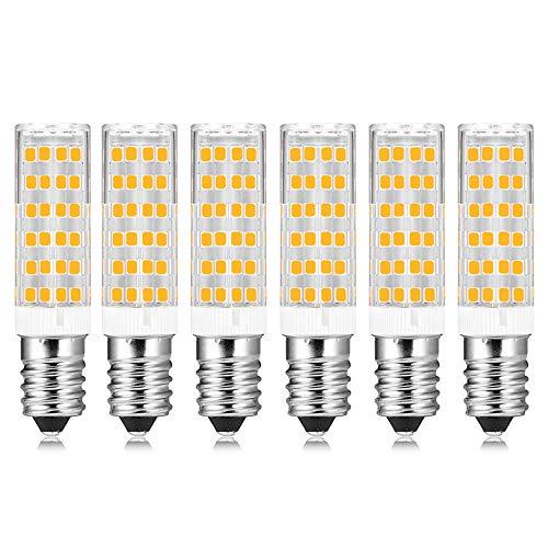 Lampadine LED E14 7W Luce Fredda 6000K, Equivalenti a 60W Incandescenza, Non Dimmerabile, 600 Lumen, AC 230V, Lampadina E14 LED Piccola 7W per Lampadario/Plafoniera/Parete, set di 6