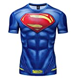 HOOLAZA Avengers Super Heroes Hommes T-Shirt de Compression à Manches Courtes Running Motion Shirt Fitness Gym Training Tops