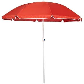 Meinposten Blau Sonnenschirm 2in1 Strandschirm h/öhenverstellbar UV Schutz Schirm Strand /Ø 155 cm
