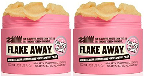 Soap And Glory Flake Away Body Scrub 300ml (Pack Qty 2) by Soap And Glory