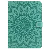 Galaxy Tab A 9.7' T550 Case,Sunflower Embossed PU Leather Folio Stand Cover with Card Slots for Samsung GalaxyTab A 9.7 Inch SM-T550 Tablet (Green)