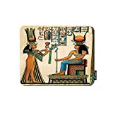 oFloral Old Egyptian Gaming Mouse Pad Queen Nefertari Making an Offering to Isis Ancient History Decorative Mousepad Rubber Base Home Decor for Computers Laptop Office Home 7.9X9.5 Inch