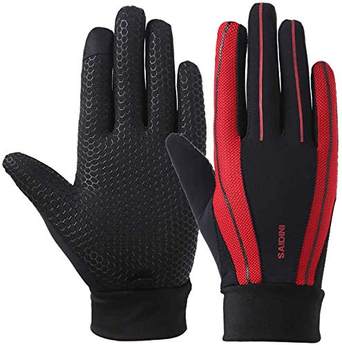 YHT Workout Gloves, Full Palm Protection & Extra Grip, Gym Gloves for Weight Lifting, Training, Fitness, Exercise (Men & Women) (red,X-Large)