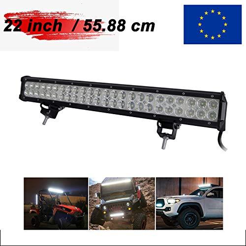 AUXTINGS 20 pulgadas 126W Spot Flood Barra de luces LED Luces de conducci/ón campo a trav/és con arn/és de cableado Kit para 4WD AWD campo a trav/és Camioneta 4x4 SUV Van Wagon Van Camper Camber