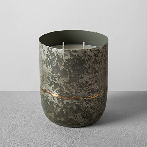 Hearth and Hand with Magnolia Galvanized Container Soy Candle 25oz Cardamom & Vetiver Joanna Gaines Collection Limited Edition