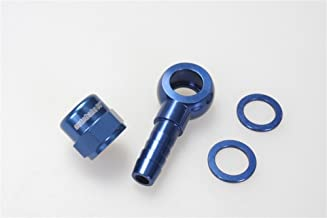 Autobahn88 Aluminum Fuel Banjo Adapter - M12 12mm Banjo to Barb Adapter Kit Set with Washer and Cap, Designed fits for Bosch 044 Fuel Pump, Blue