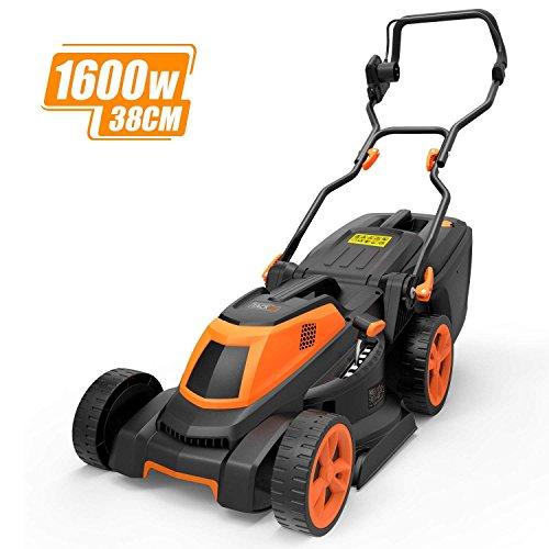 TACKLIFE Lawnmower, 1600W Electric Lawn Mower, 3-in-1, Cutting Width 38 cm, 6 Lever...