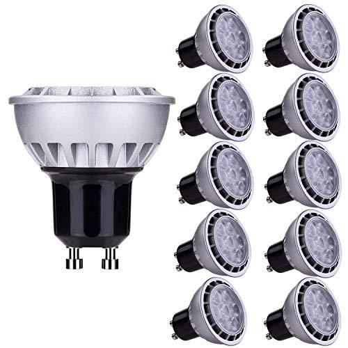 Lampaous Juego de 10 bombillas LED de 7W GU10, blanco neutro 4000K, 450 lumens, equivalente a 50Watts, 230V AC, intensidad no regulable