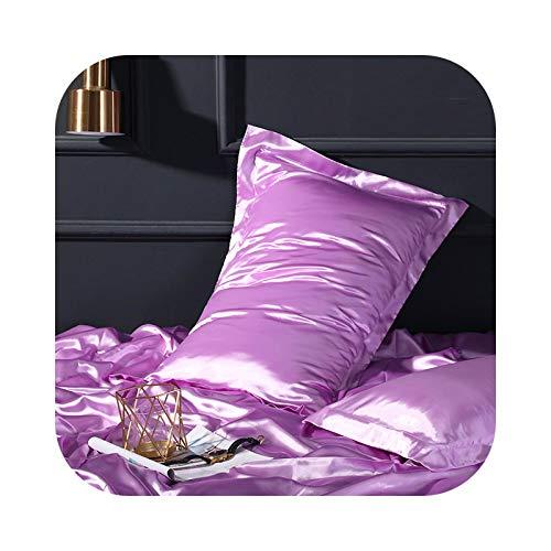 xiao S 100% Satin Silk Dark Gold Pillowcase Queen King Silky Pillow Cover Adult Women Man Kid Sleeping-006-1pcs