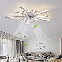 XXCC Plafondventilator, dimbaar, led, met lamp, moderne creativiteit, 5 lampen, stil, 50 W, met afstandsbediening, plafond...