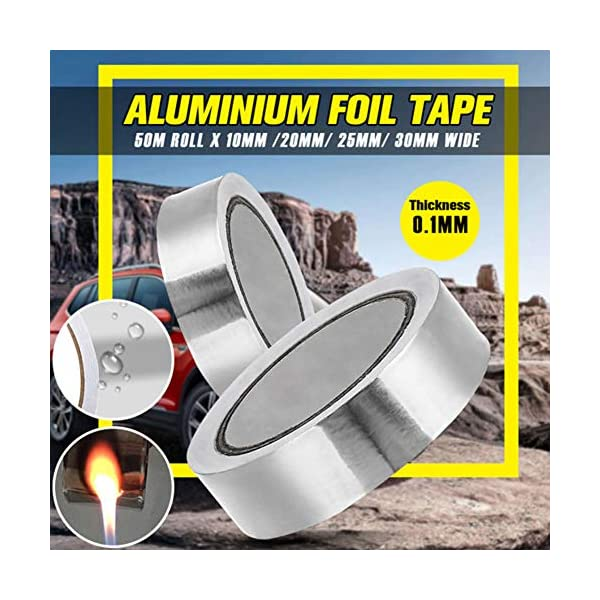 HELLOGIRL Cinta adhesiva de papel de aluminio de 1 rollo Cinta de aislamiento de resistencia a altas temperaturas Cinta…