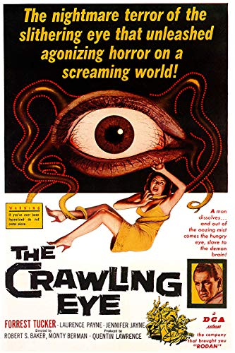 American Gift Services - Vintage Science Fiction Horror Movie Poster The Crawling Eye - 11x17