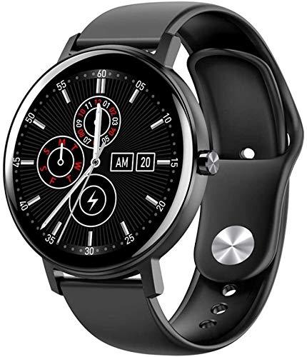WHXJ Reloj Bluetooth delgado Fitness Tracker con podómetro con alarma SMS, cronómetro impermeable IP68 Full-Touch, para Android Apple iOS negro