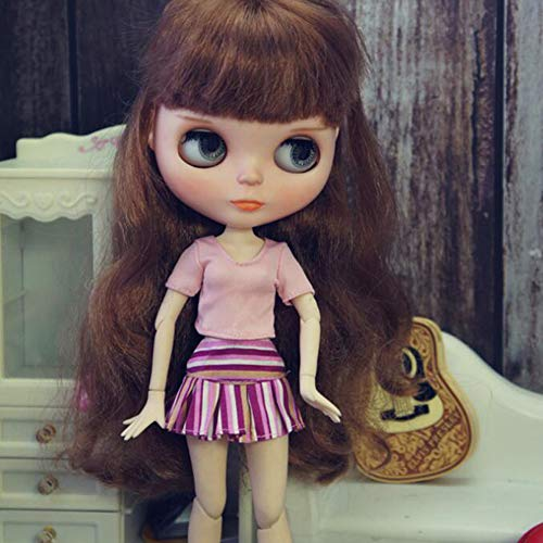 leoglint Blythe Doll Clothes Shirt and Skirt Clothing for Blythe Doll 1/6 30 cm Bjd Dolls Azone ICY Licca Doll