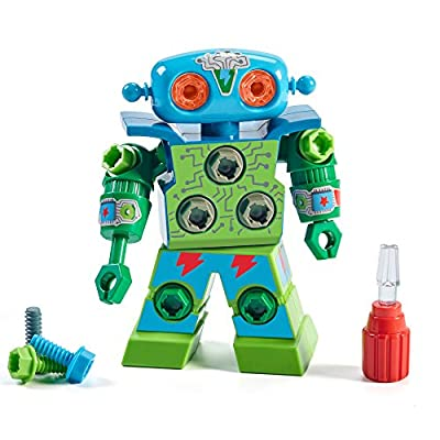Educational Insights Design & Drill Robot: Kid-Powered Introduction to STEM for Preschoolers, Great Gifts for Boys & Girls 3+