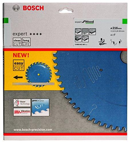 Bosch 2608642497 Kreissägeblatt Expert for Wood 216 x 30 x 2.4 mm Z48T - 2