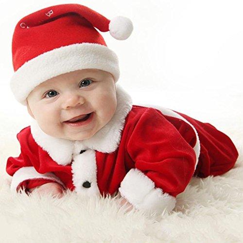 Costume Bébé Père Noël Santa Claus Enfant juleya 80cm/6-12M Rosso C