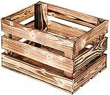 LAUBLUST Vintage Holzkiste - Geflammt   Aufbewahrungskiste aus Holz - Geschenkkiste & Deko   ca. 40x30x25cm - L