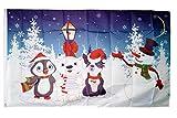 Flaggenfritze® Flagge/Fahne Winter Eisbär und Pinguin - 90 x 150 cm