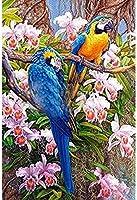 クロスステッチ キット青い鳥40x50cm DIYクロスステッチキット刺繍初心者向けホームデコレーション(11CTプレプリントキャンバス刺繍キット 手作り