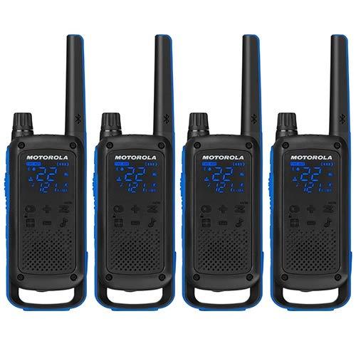 Motorola T800 Talkabout Two-Way Radios - Black/Blue (4 Pack)