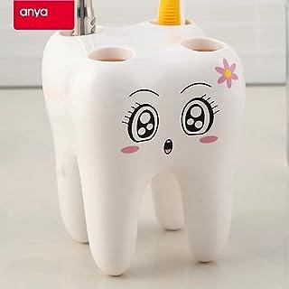 Clearance Sale!DEESEE(TM)🌸🌸Dental Toothbrush Holder Lovely Cartoon Toothbrush Holder Sanitary Ware Dental
