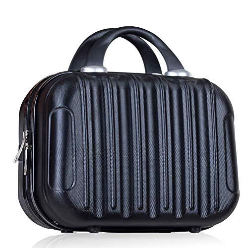SEESEE.U - Sac de voyage portable de 14 pouces - Sac à maquillage étanche - Mini valise pour cosmétiques et accessoires de maquillage - Bijoux de toilette, Noir , 32 * 14 * 23cm