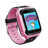 VIDIMENSIO GPS-Telefon Uhr 'Kleine Eule - pink' OHNE Abhörfunktion, für Kinder, SOS Notruf+Telefonfunktion, Live GPS+LBS Positionierung, funktioniert weltweit, Anleitung + App + Support auf deutsch