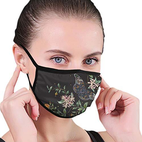 Stickerei Trend Blumen Atmungsaktiver Mundschutz Mit Gummiband Anti-Staub Waschbar Wiederverwendbarer Mundschutz Modedesign Für Kinder Jungen Mädchen Teenager