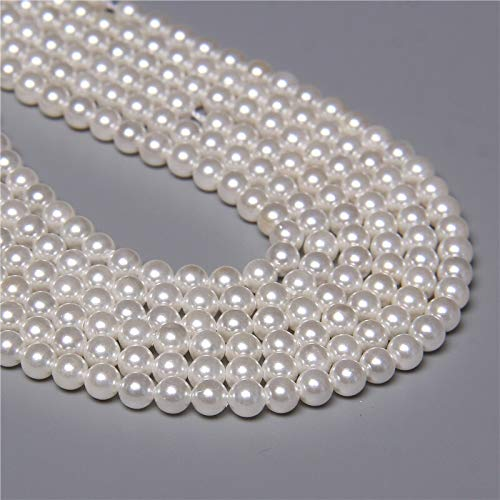 AA + Natural Fresh Water Shell Simulated Pearl Beads Flow Semerge Bead para joyería Hacer Pulsera Collar Pendiente Accesorios 15' (Color : 5mm)