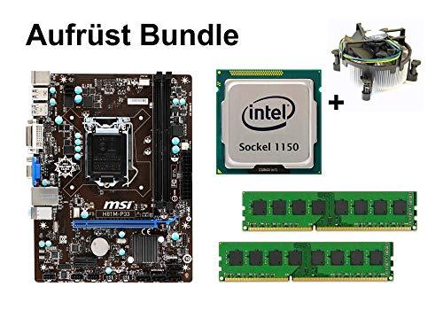 Aufrüst Bundle - MSI H81M-P33 + Intel Core i5-4670 + 8GB RAM #117797