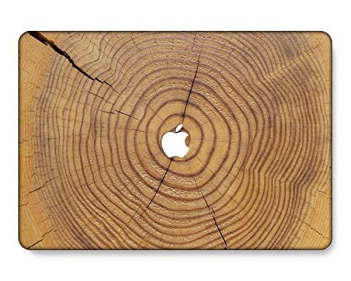 GangdaoCase Carcasa rígida de plástico ultra delgada para MacBook Pro de 13 pulgadas con/sin barra táctil/Touch ID A2338 M1/A2289/A2251/A2159/A1989/A1706/A1708 (grano de madera A 164)