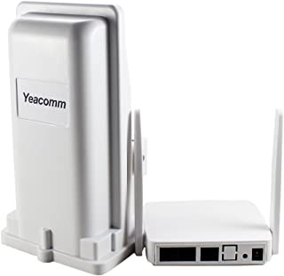 4G Outdoor CPE WiFi Router, Yeacomm 3G 4G IP66 LTE CPE Kit | LTE Unit with Sim Card Slot + Indoor AP WiFi Hotspot, 150Mbps CAT4 Mobile WiFi Router for Home/Office, Remote Area Internet Connect B20
