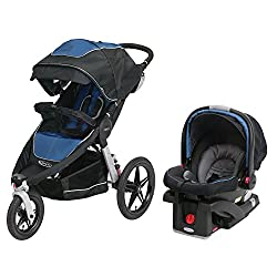 Graco relay click connect jogging stroller travel system, Jaguar