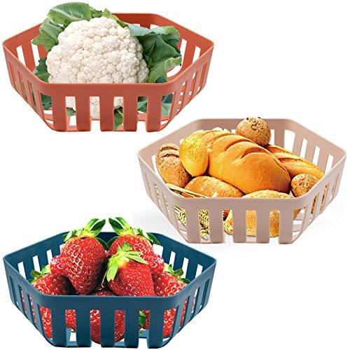 Fruit Basket Set - Kitchen Fruit Bowl Set Vegetable Holder Decorative Stand...