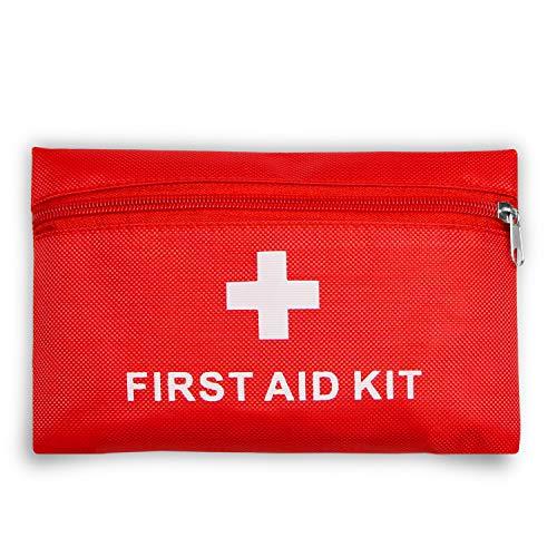 Botiquín de primeros auxilios con 42piezas, bolsa médica portátil, bolsa de supervivencia para emergencias, certificado de CE, ligero y portátil, para coche, hogar, cámping, deportes al aire libre