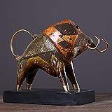DNSJB Escultura Moderna Resina De Bronce Estatua Taurina Artesanía Casa Decoración De Escritorio Estatuilla / 14.4x4.5x10inches