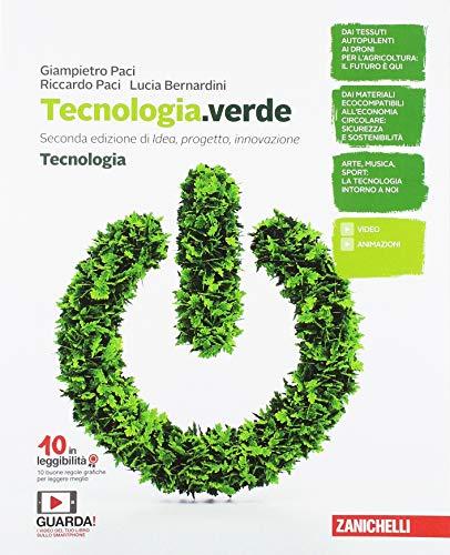 Tecnologia.verde. Tecnologia. Disegno, Laboratorio e Coding. Tavole per il disegno. Per la Scuola media. Con e-book