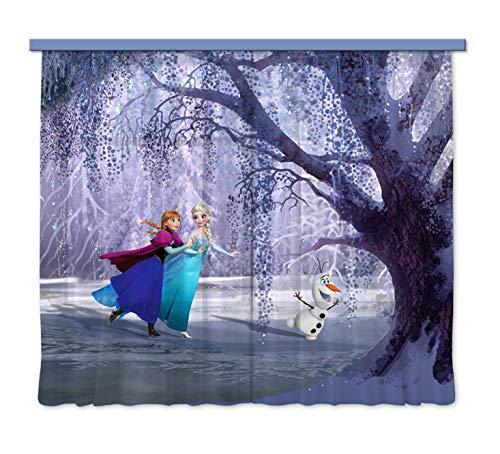 cortinas habitacion niña frozen