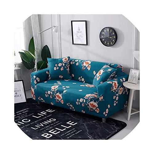 azalea store Pflanze gedruckt Sofaabdeckung weiß für Wohnzimmer für Haustiere Eckcouch Abdeckung elastische Dehnung einzigen Schnitt Sofa Sessel, Farbe 23,4 sitzigen 235-300cm