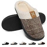 Deevike Pantuflas Zapatillas Hombre Invierno CáLido Zapatos Memory Foam Antideslizante Zapatillas de Estar por Casa Marrón 1 42/43 EU