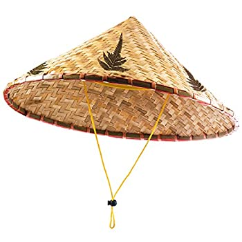 Funny Party Hats Asian Hat – Rice Paddy Hat – Chinese Hat – Rice Farmer Hat - Conical Hat