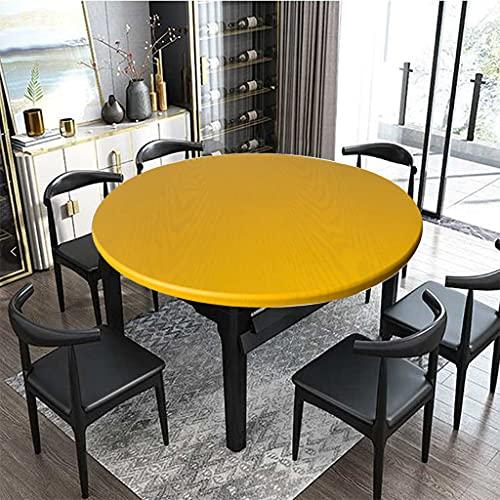 Spann Tischdecke Rund Elastische Gartentischdecke Outdoor Tischdecke Wasserdicht Rutschfestem Runden Tischdecken mit Gummizug Gelb 60cm