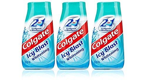 3x Colgate 2 in 1 Zahnpasta und Mundwasser eisiger Whitening 100 ml Reisegröße