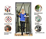 Door easy Fliegengitter Tür 100 x 220 cm [Robustes Fiberglas & extra starke Magnete] - Insektenschutz Balkontür - Fliegenvorhang Terrassentür - Fliegenschutz, Magnetvorhang ohne Bohren